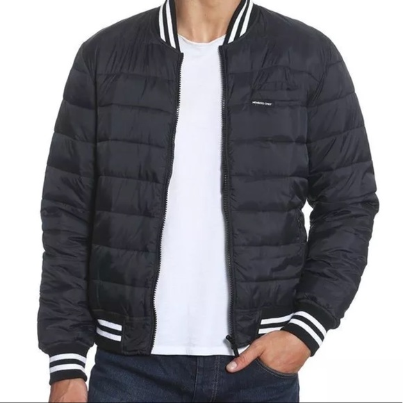 3837aef1d MEMBERS ONLY Men's Varsity Puffer Bomber Jacket NWT